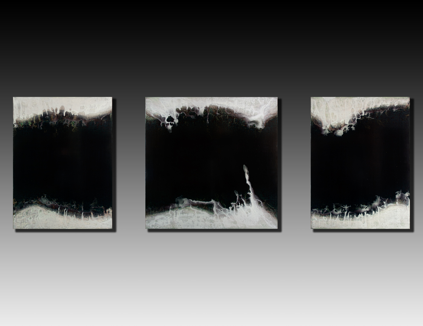 Shaun Whiteside - 2015 Gulf triptych 48x144 inches