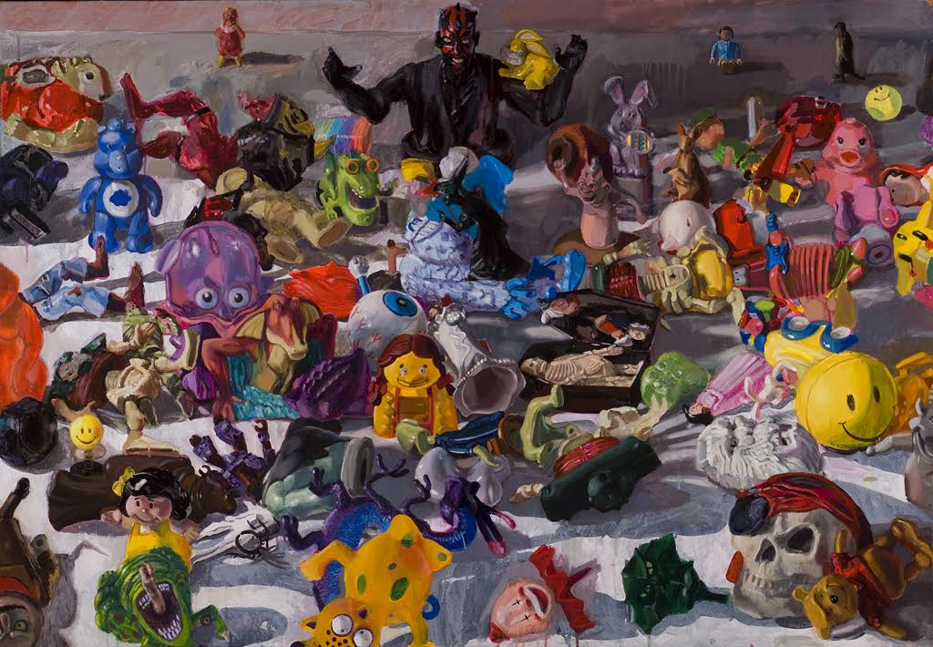 """Sweet n' Sour  2008 acrylic and oil on linen 42""""h x 60""""w, horizontal"""