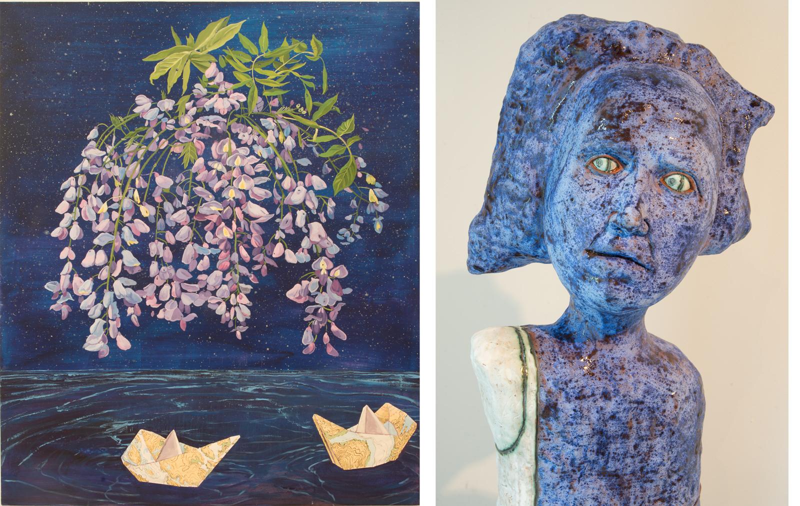 Jeffrey Whittle's Celestial Bouquet and Crisha Yantis' Naively Skeptical(Detail)