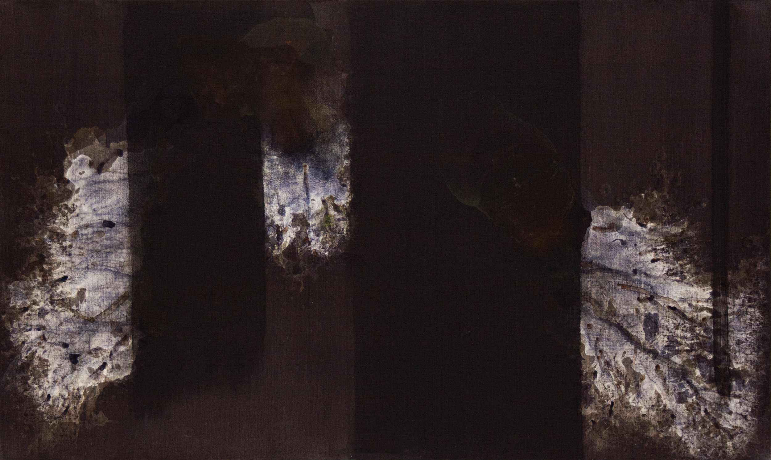 Shaun C. Whiteside  Elegy to the U.S. Republic no. 5 (after Motherwell),  Acrylic