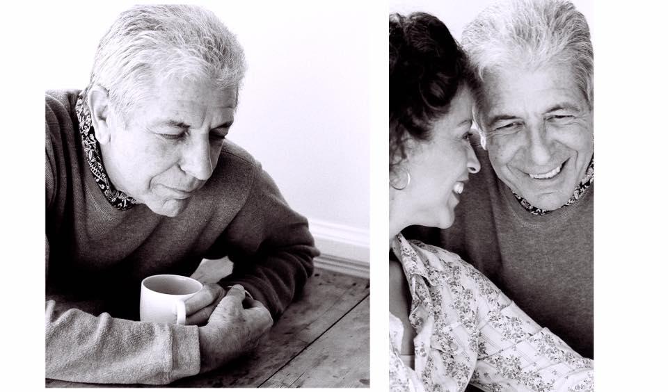 Leonard Cohen and Perla Batalla by Nancy Santullo