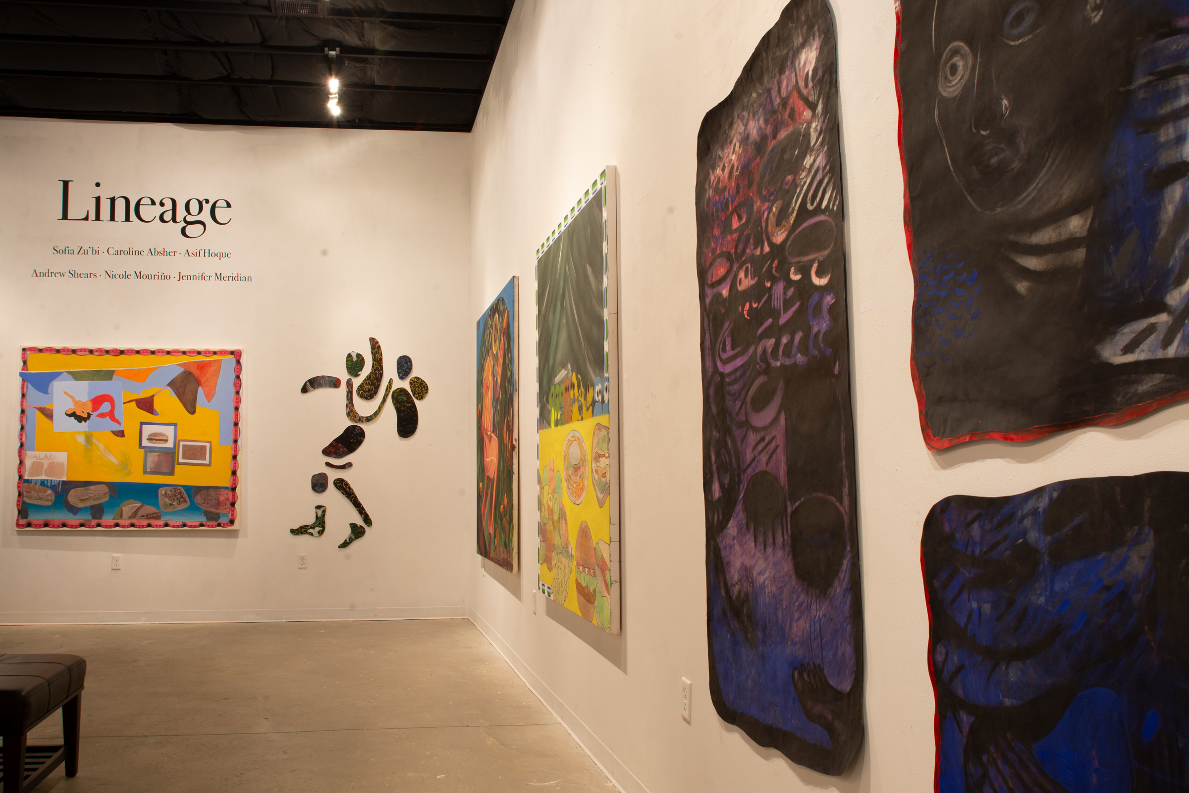 View of the  Lineage  exhibition