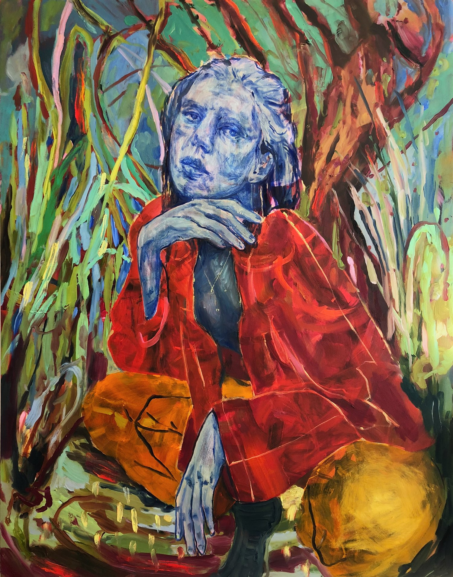 Kayla CAROLINE ABSHER oil on canvas 64 x 50 in