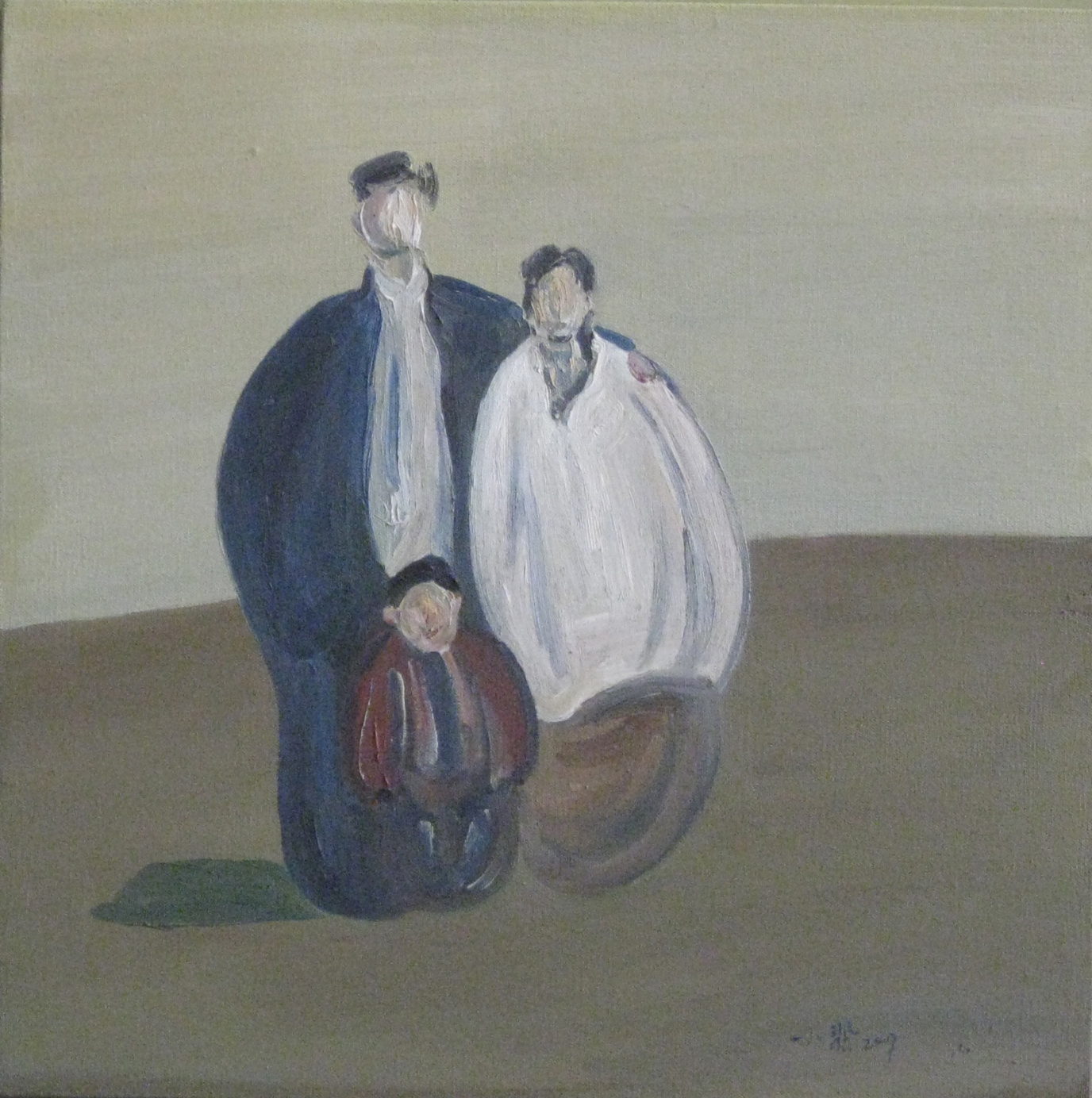 Gao, Xiaofei 我们仨 60x60 布面油画 $4,000.jpg