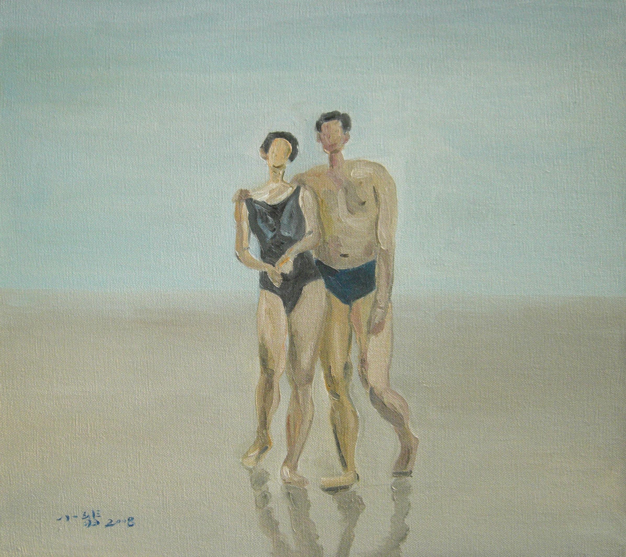 Gao,Xiaofei 蜜月 58x52 布面油画 2008.jpg $4,000.jpg