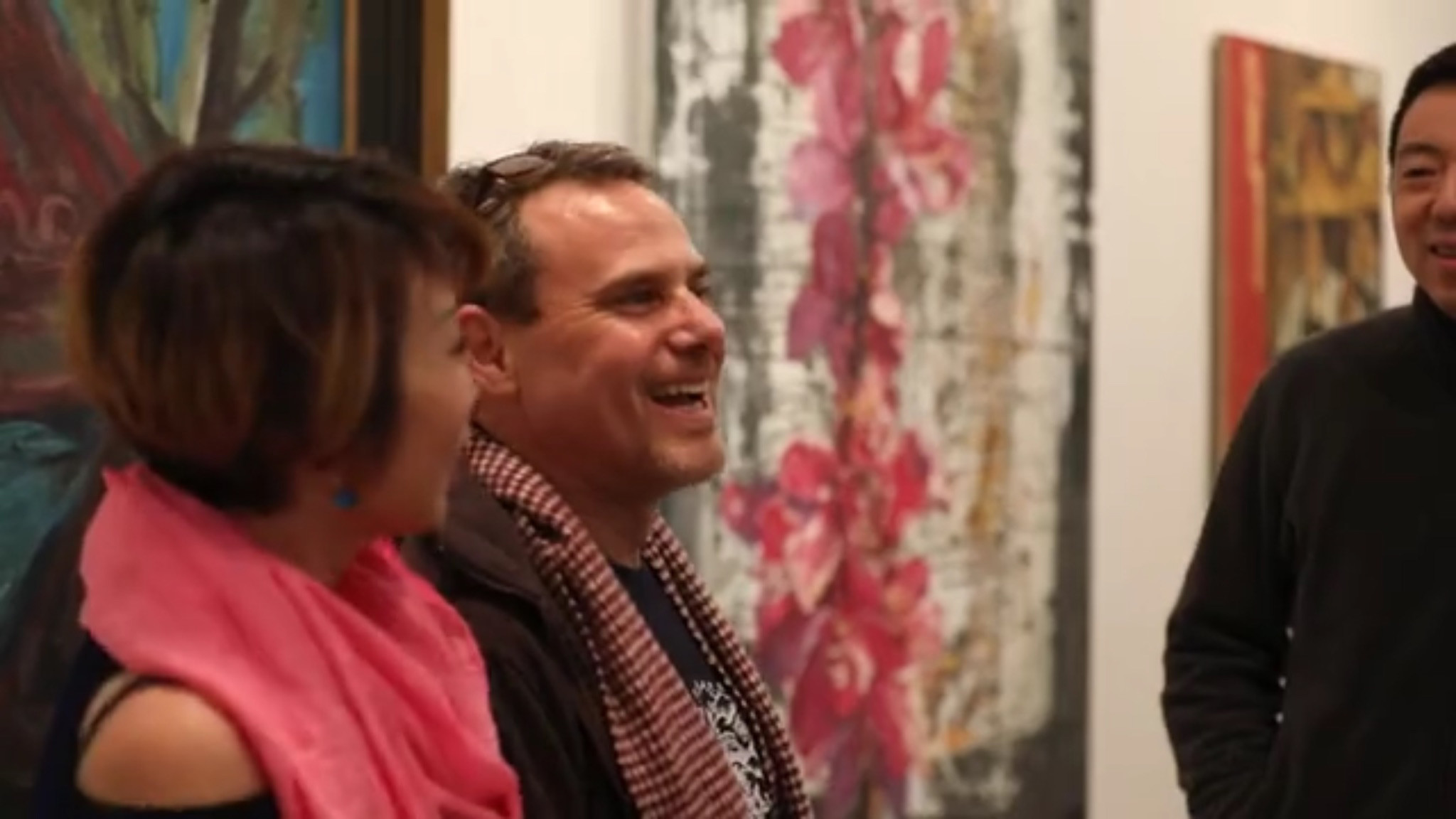 Baylee Wang and Chip Goldstein and the opening reception at the Linda Matney Fine Art Gallery