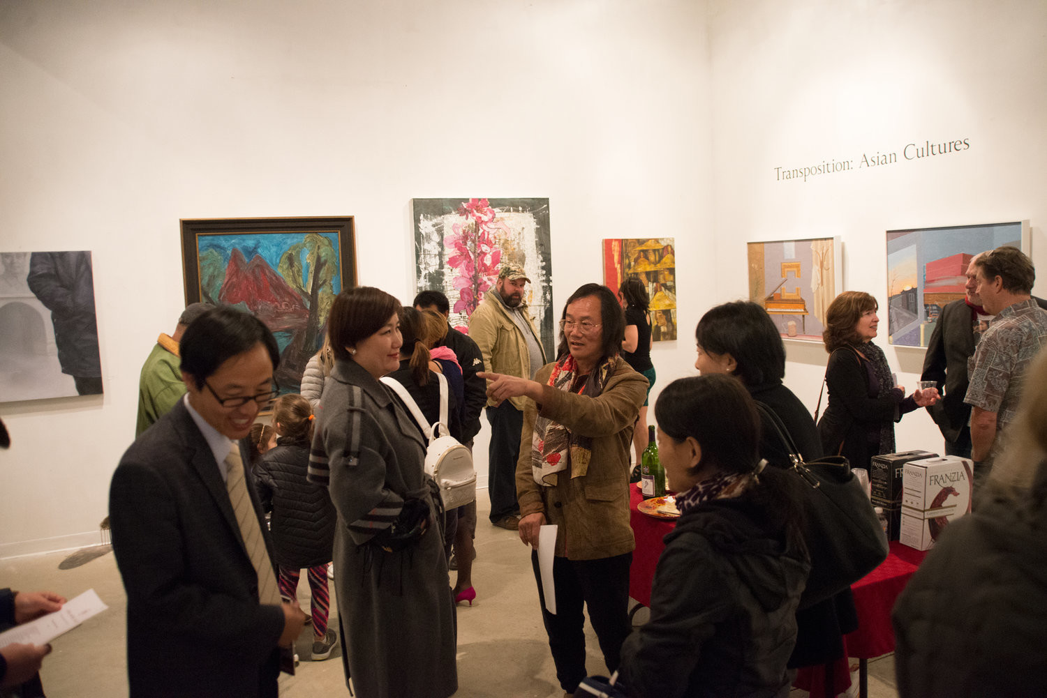 The opening reception at the Linda Matney Fine Art Gallery