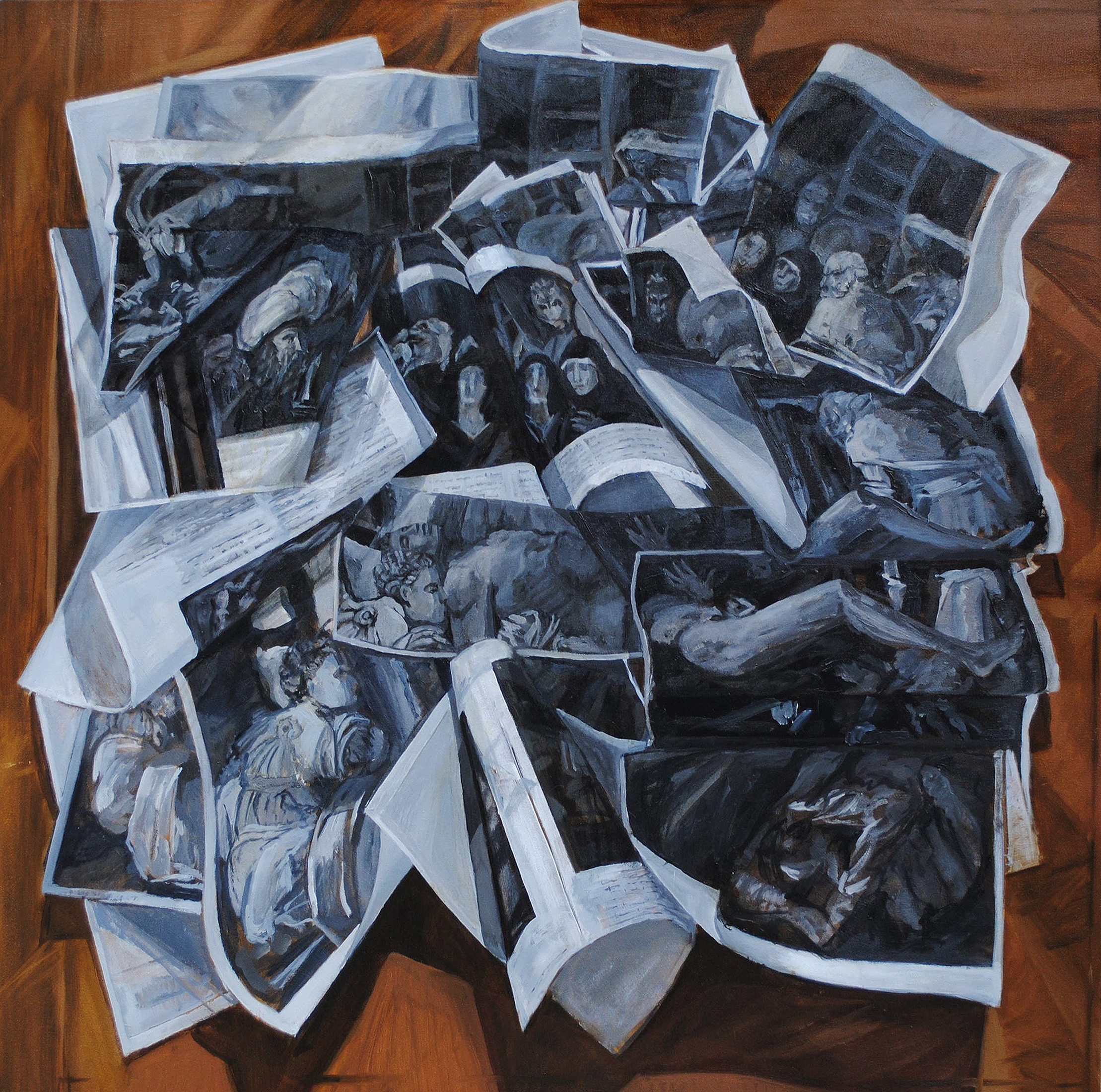 Teddy Johnson,  The Deposition, Oil on canvas, 31.5 x31.5