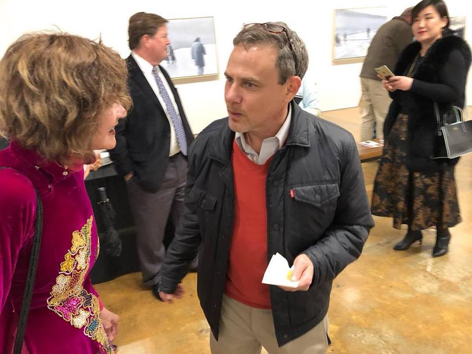Lou Ann Zell and Chip Goldstein at the opening reception