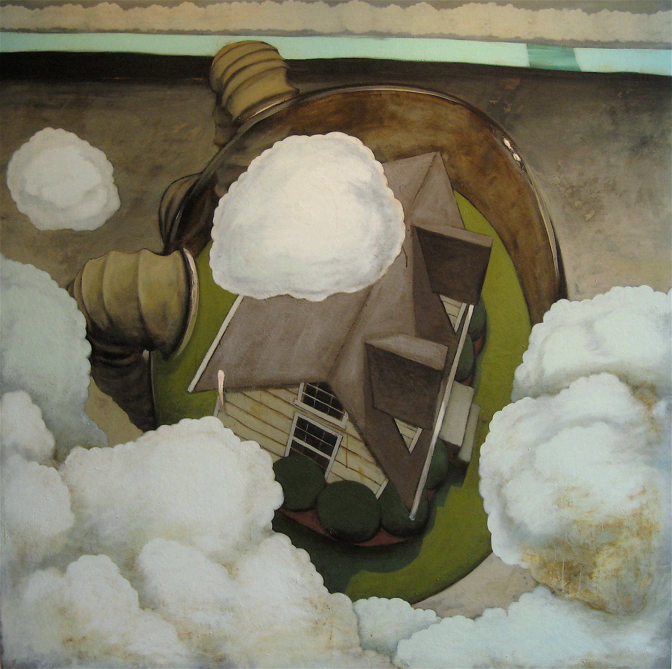 Thermoballer , Oil on canvas Courtesy of Glave Kocen Gallery