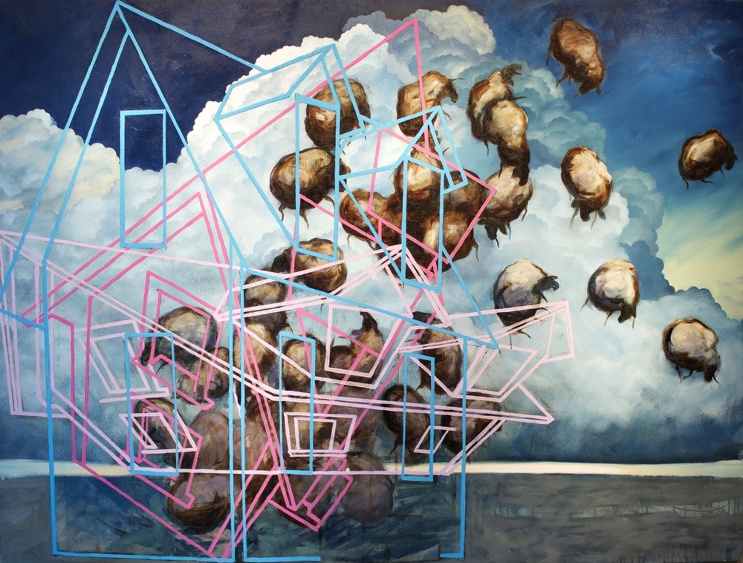 Orbit, Oil on canvas, 65x80, courtesy of Glave Kocen Gallery