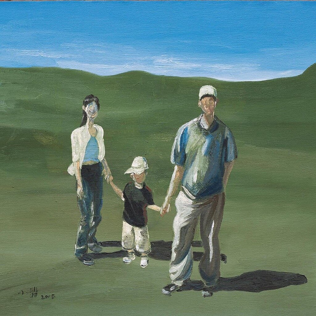Holding your hands , 2008   Oil on canvas  22 × 23 1/2 in  View on Artsy