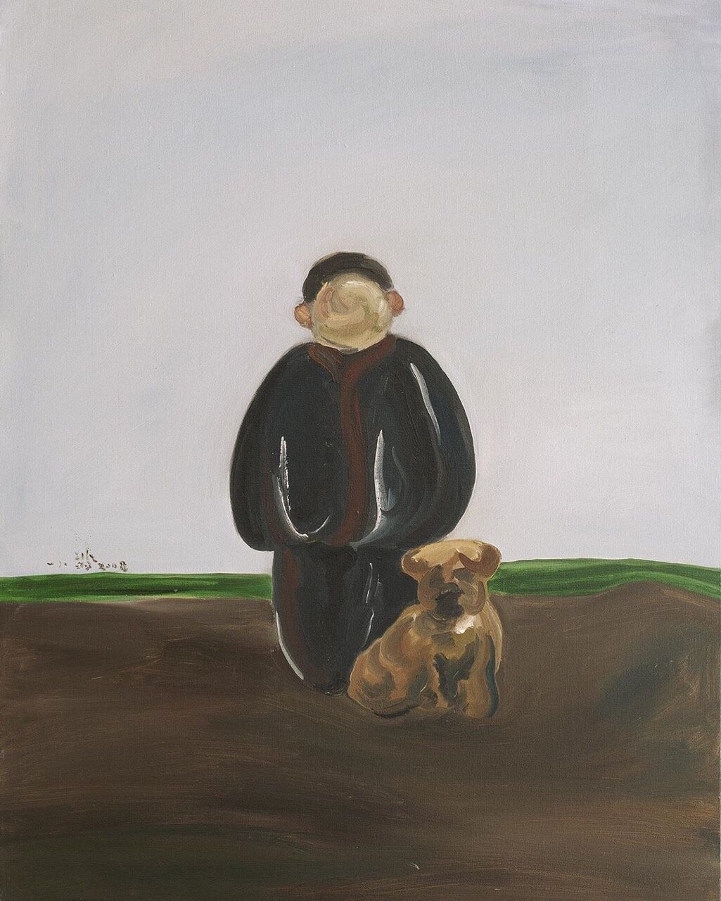 The Boy and The Dog , 2008   Oil on canvas  51 1/2 × 40 in  View on Artsy
