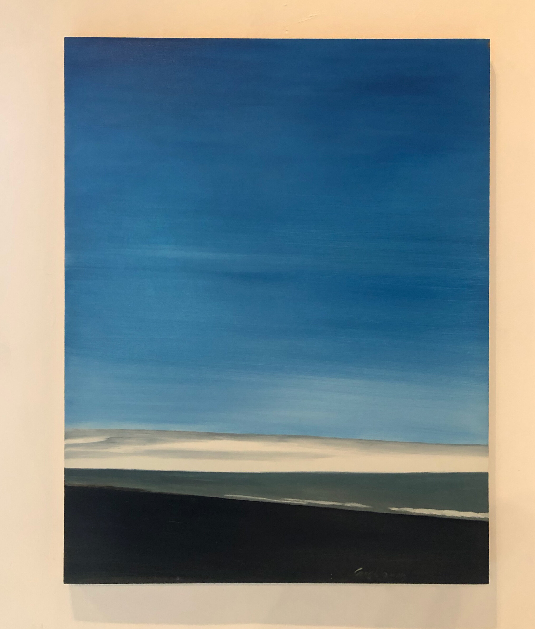 NIce Blue, 2017  Oil on canvas  37.5× 27.5 View on Artsy