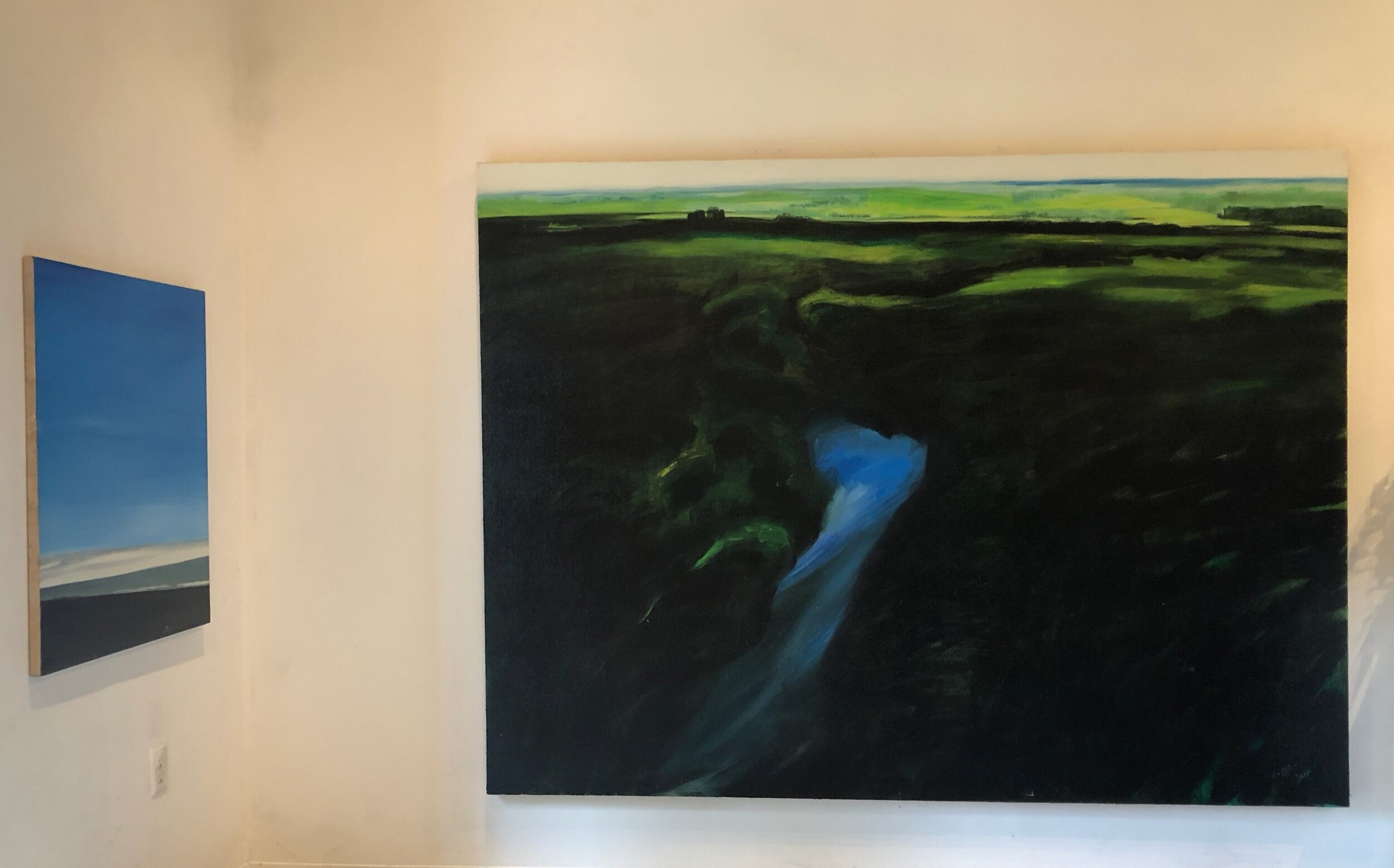 New Landscape,  Oil on canvas, 71 x96 in (Right)