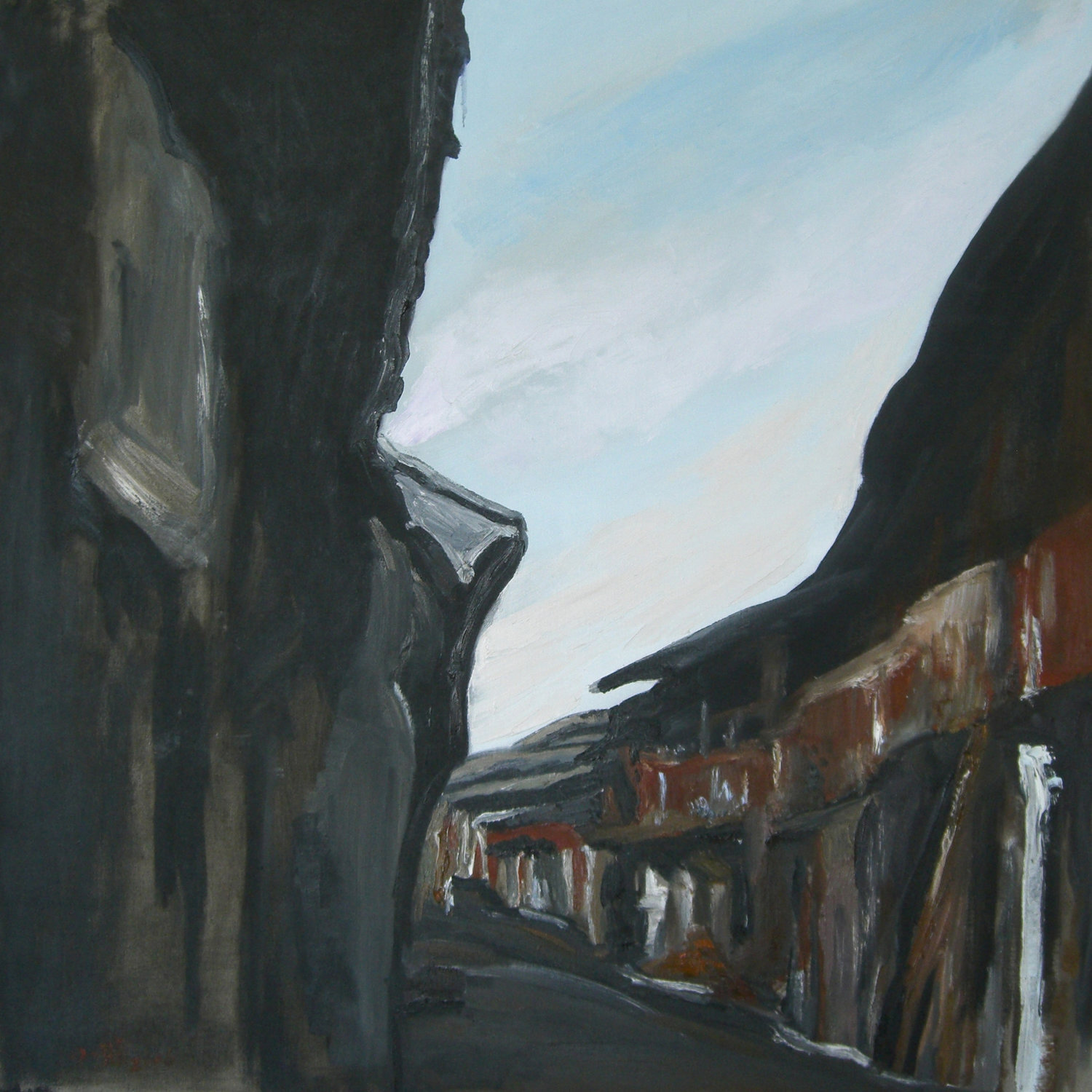 Street Impression III ,  Oil on canvas  39 2/5 × 39 2/5 in  View on Artsy