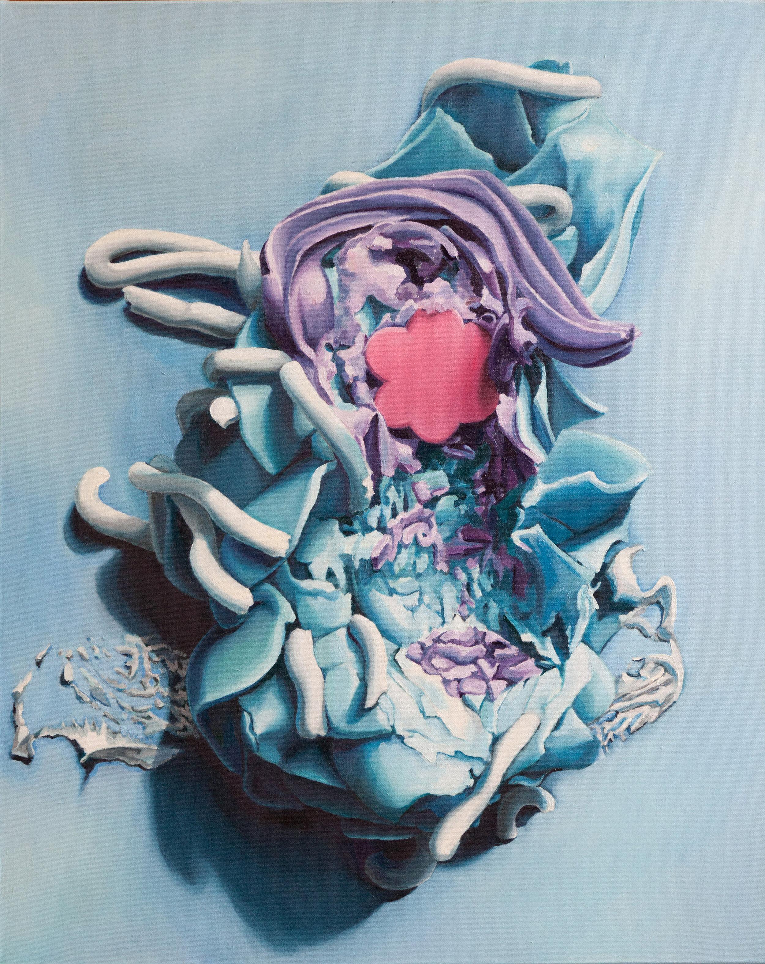 """Destruct-O,  oil on canvas, 30"""" x 24"""", 2013"""
