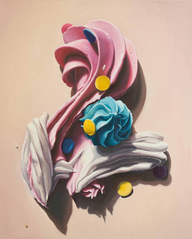 "Plume,  oil on canvas, 30"" x 24"", 2014"