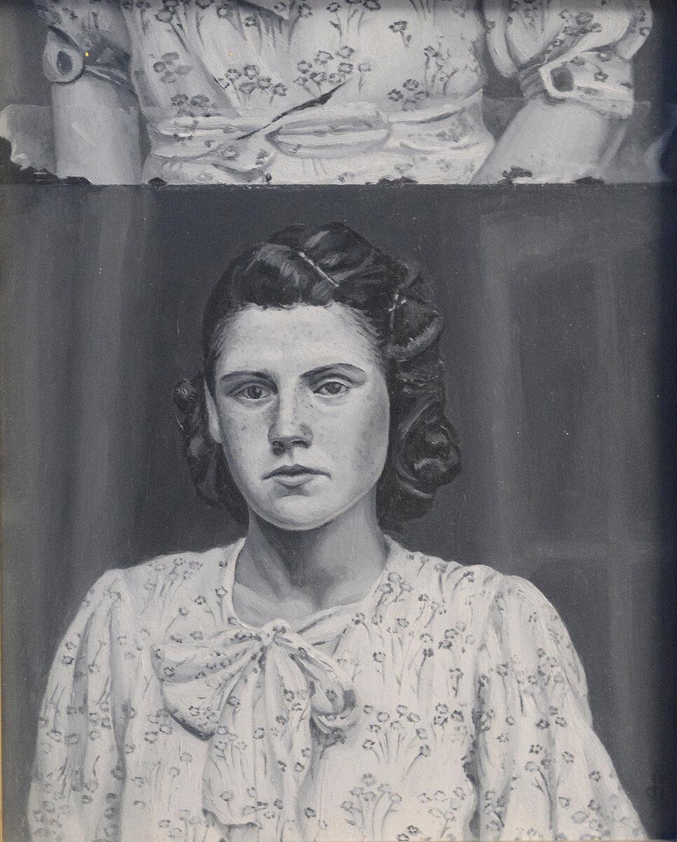 "No Name (Double),  Oil on Panel, 10"" x 8"", 2015"