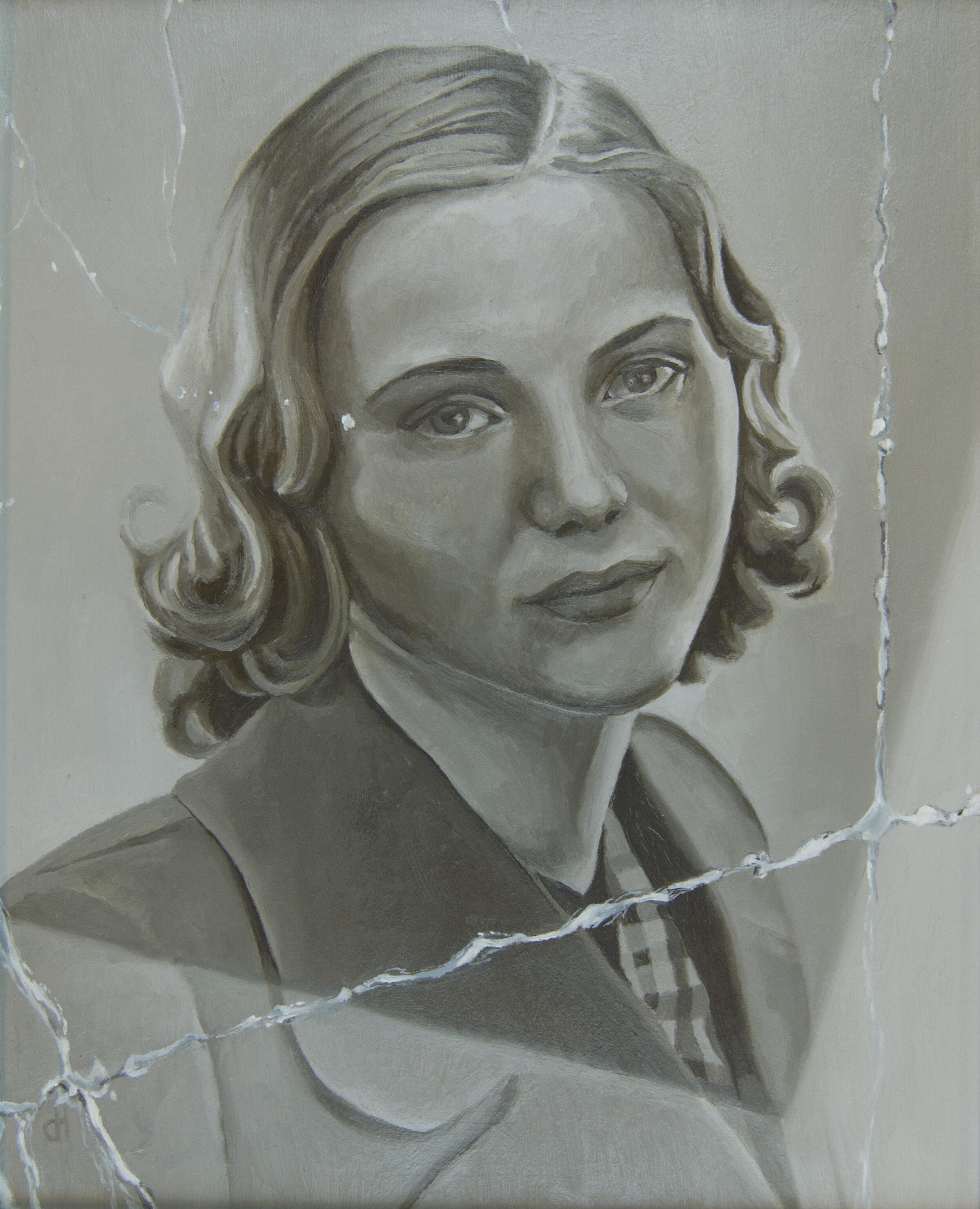 "Gerda Lobitz,  Oil on Panel, 10"" x 8"", 2015"