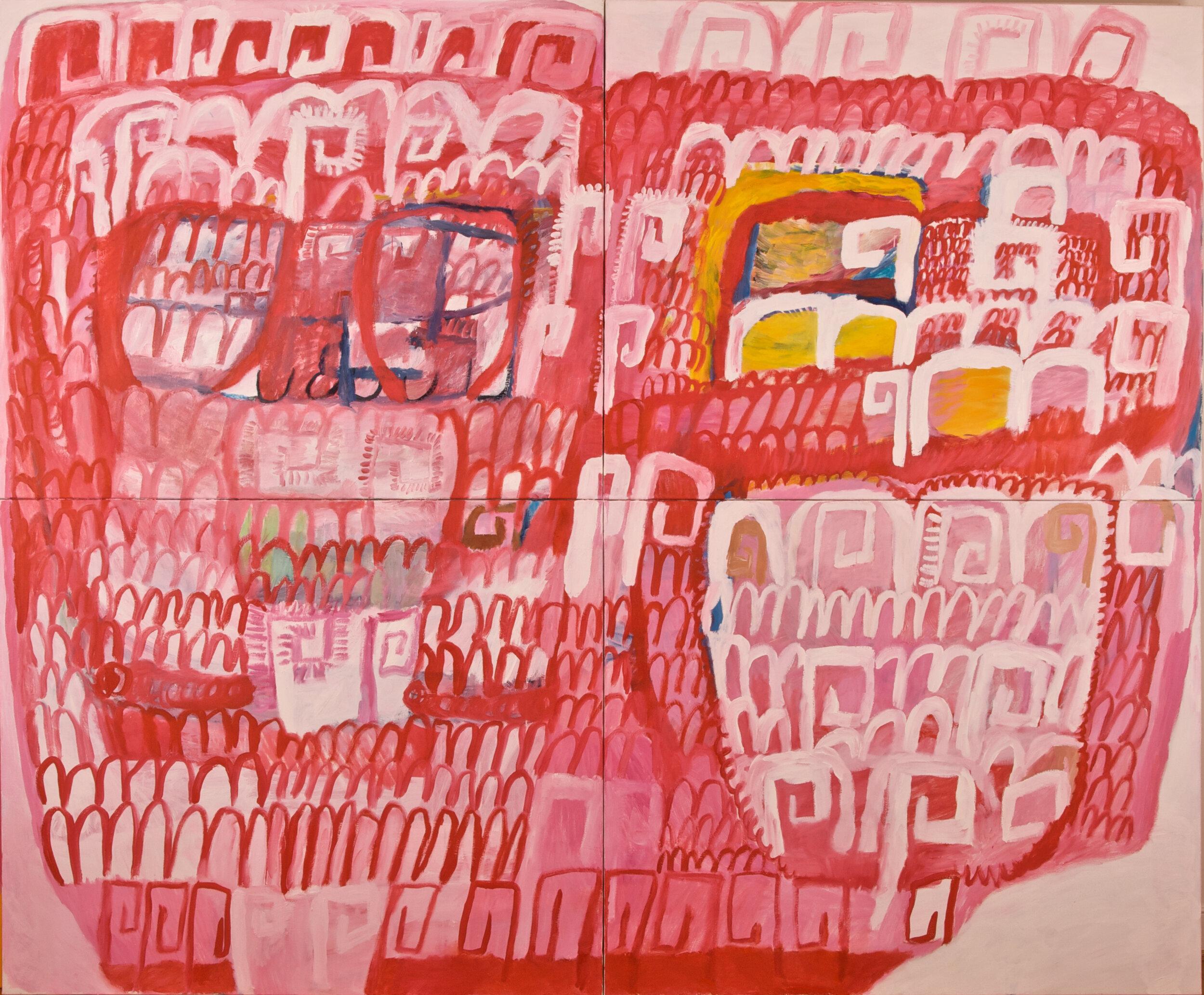 "The Kiss, oil on canvas, 78"" x 94"", 2009"
