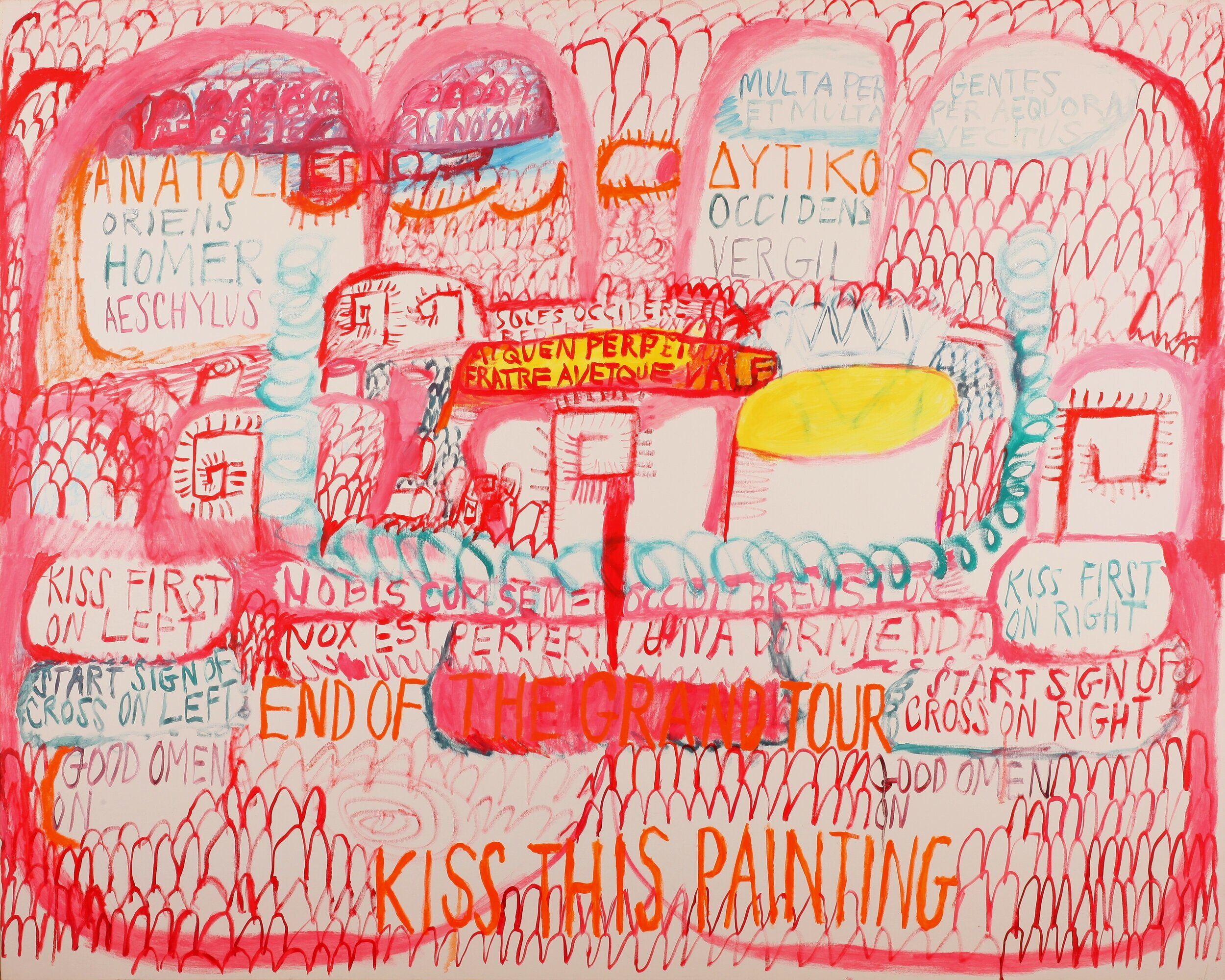 On the Death of Cy Twombly , Oil on canvas, 56x67, 2011