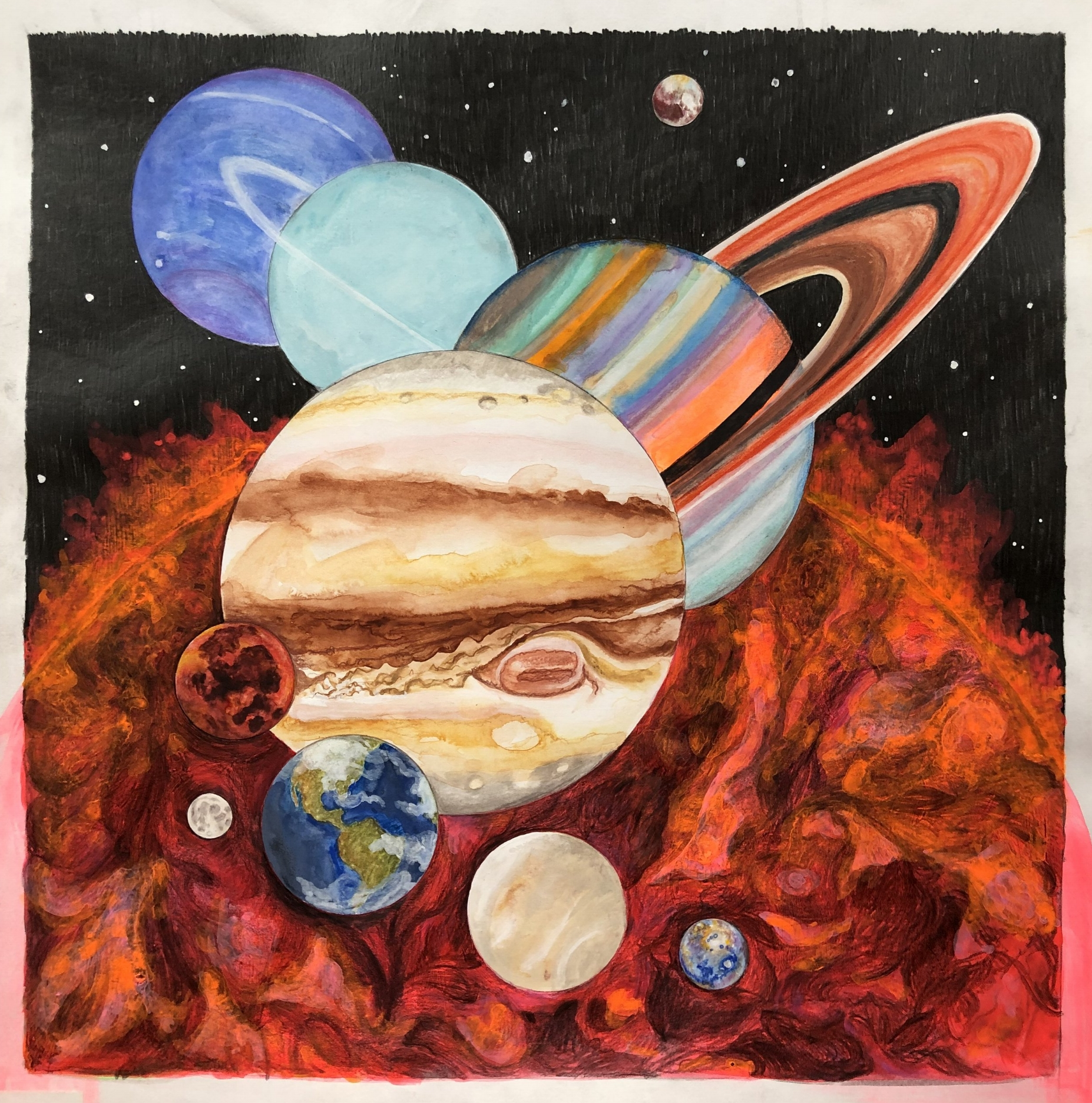 Original album cover artwork for Planetarium feat. Sufjan Stevens/Bryce Dessner/Nico Muhly/James McAllister