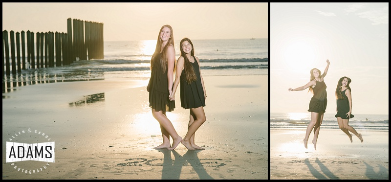 """Jillian & her best friend, who she met when she first moved to Jax, and they have stuck by each other ever since. Sweet friends...Oh, and they nailed the """"jump shot""""!!"""