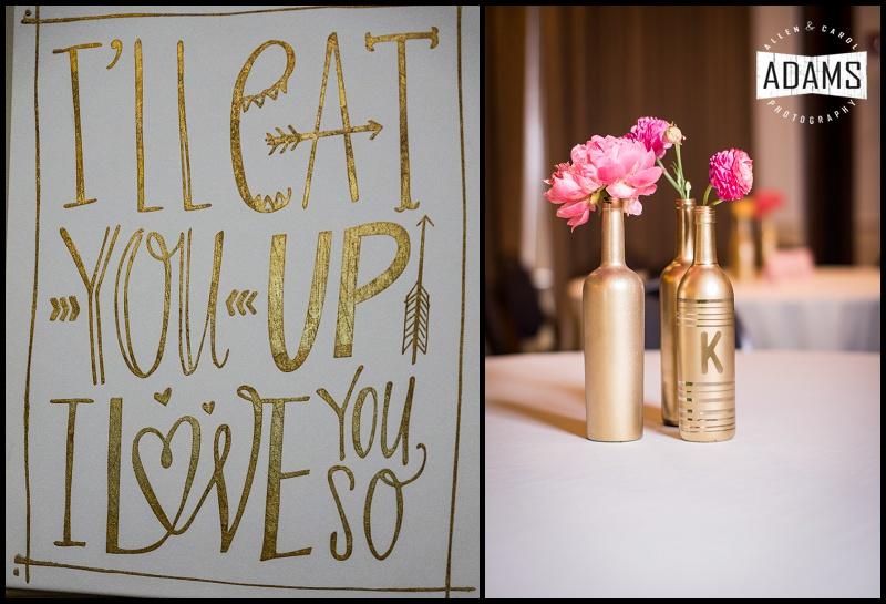 wedding gold decor