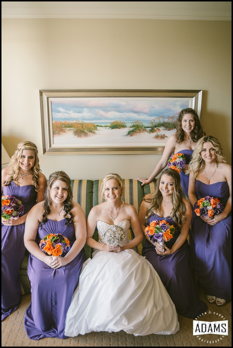 LYSSA HAD THE SWEETEST BRIDESMAIDS. THEY WERE SO HELPFUL AND KIND WHEN SHE WASN'T FEELING WELL, AND ALTHOUGH WE WERE LIMITED ON OUR TIME DUE TO THE DELAY, WE WERE STILL ABLE TO PHOTOGRAPH THEM ALL TOGETHER. SO LOVELY!
