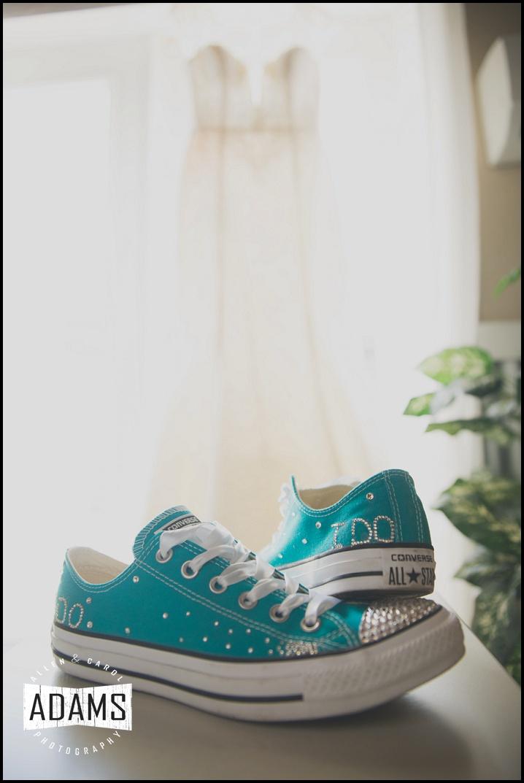 teal converse wedding dress