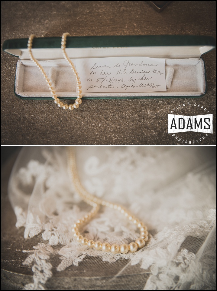 pearls and lace wedding