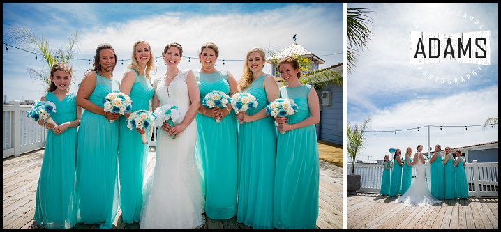 AHHH! DON'T YOU JUST LOVE THE TEAL DRESSES? ON A GORGEOUS DAY NO LESS! WOW!!!