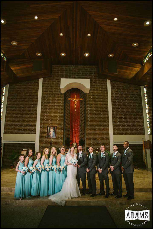 teal catholic wedding fort walton