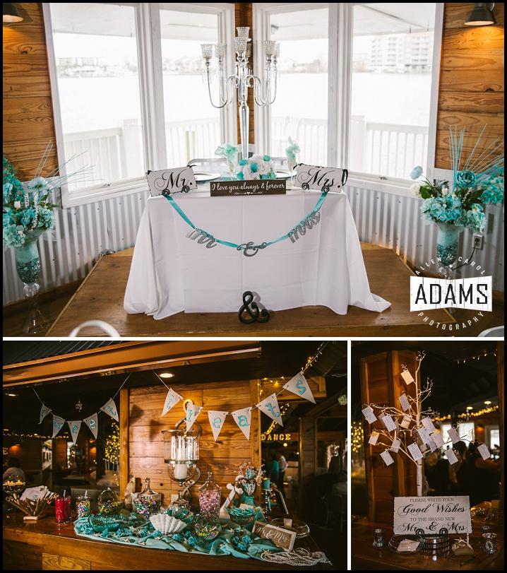 teal wedding fort walton beach wedding