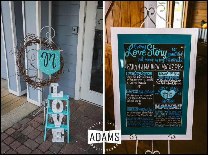 teal wedding etsy signs