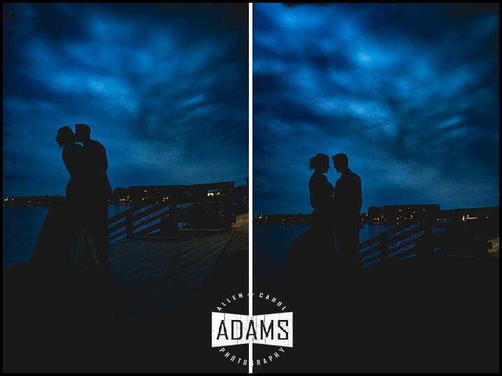 moonlight wedding photo