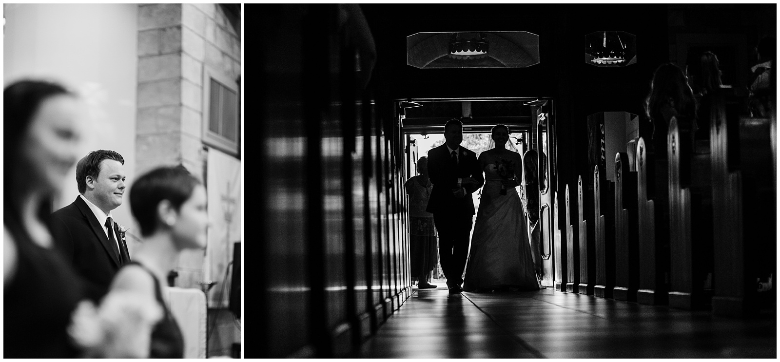 Then the moment we all had waited for…the moment the groom notices his bride enter and his face lights up! It's always so hard to keep our composure and keep shooting thru tears. Especially at this wedding