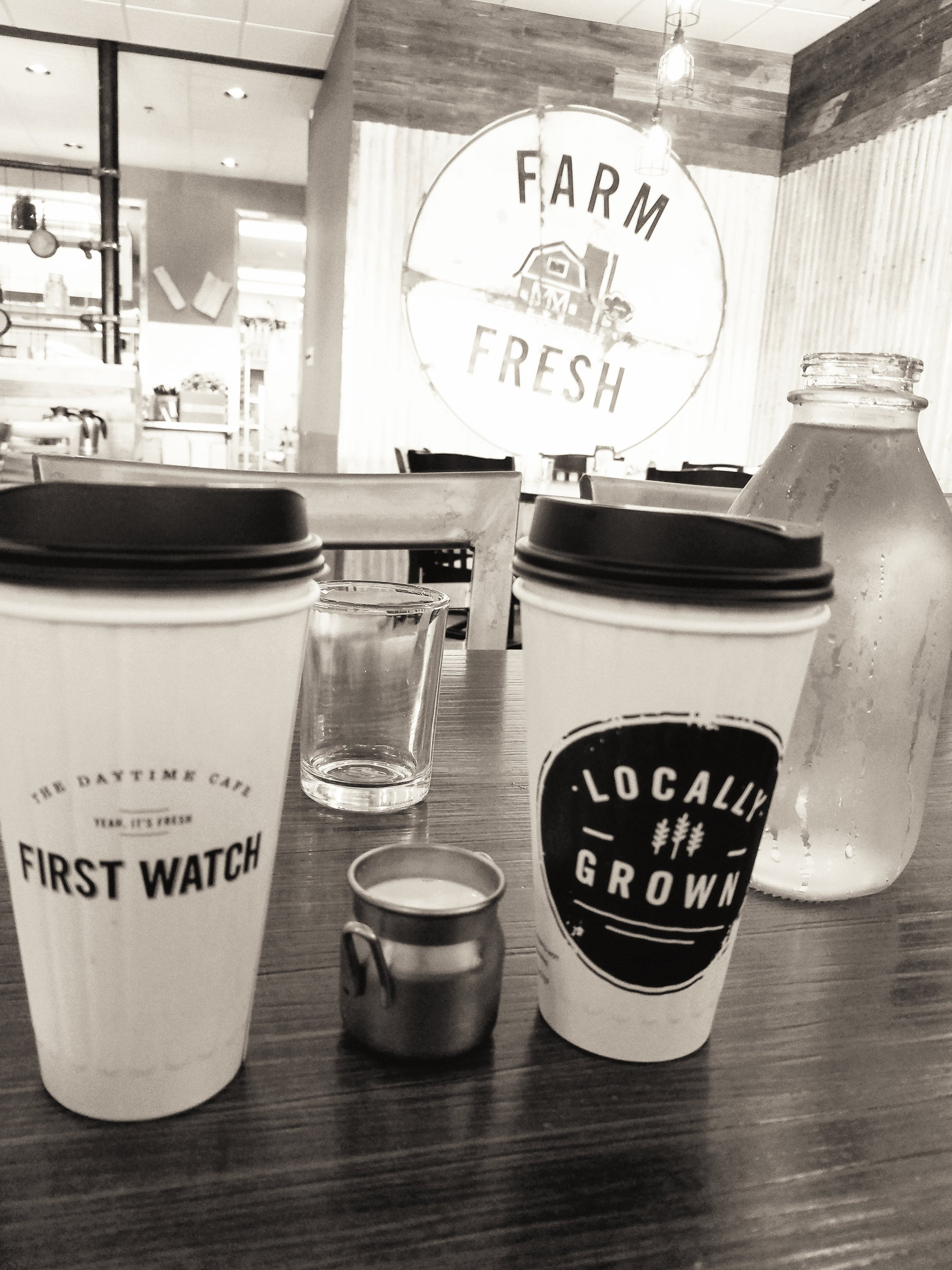 Our oh-so-delicious coffee from First Watch in Destin. Amazing breakfast!