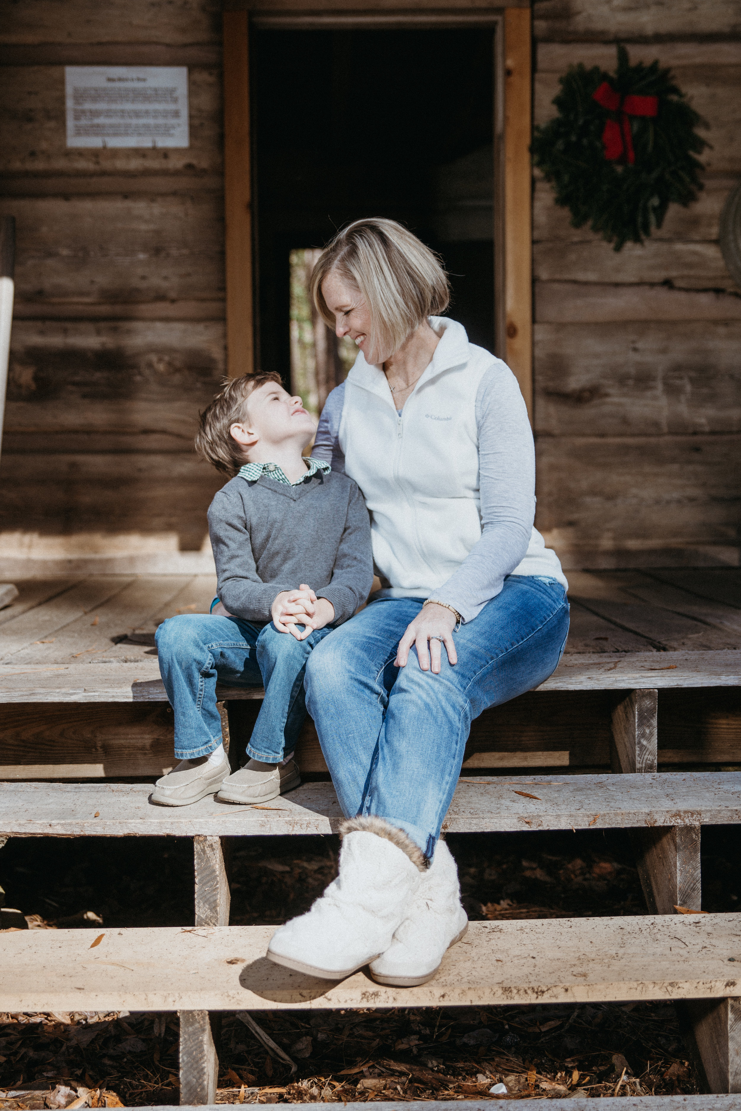 A boy and his mama...nothing sweeter