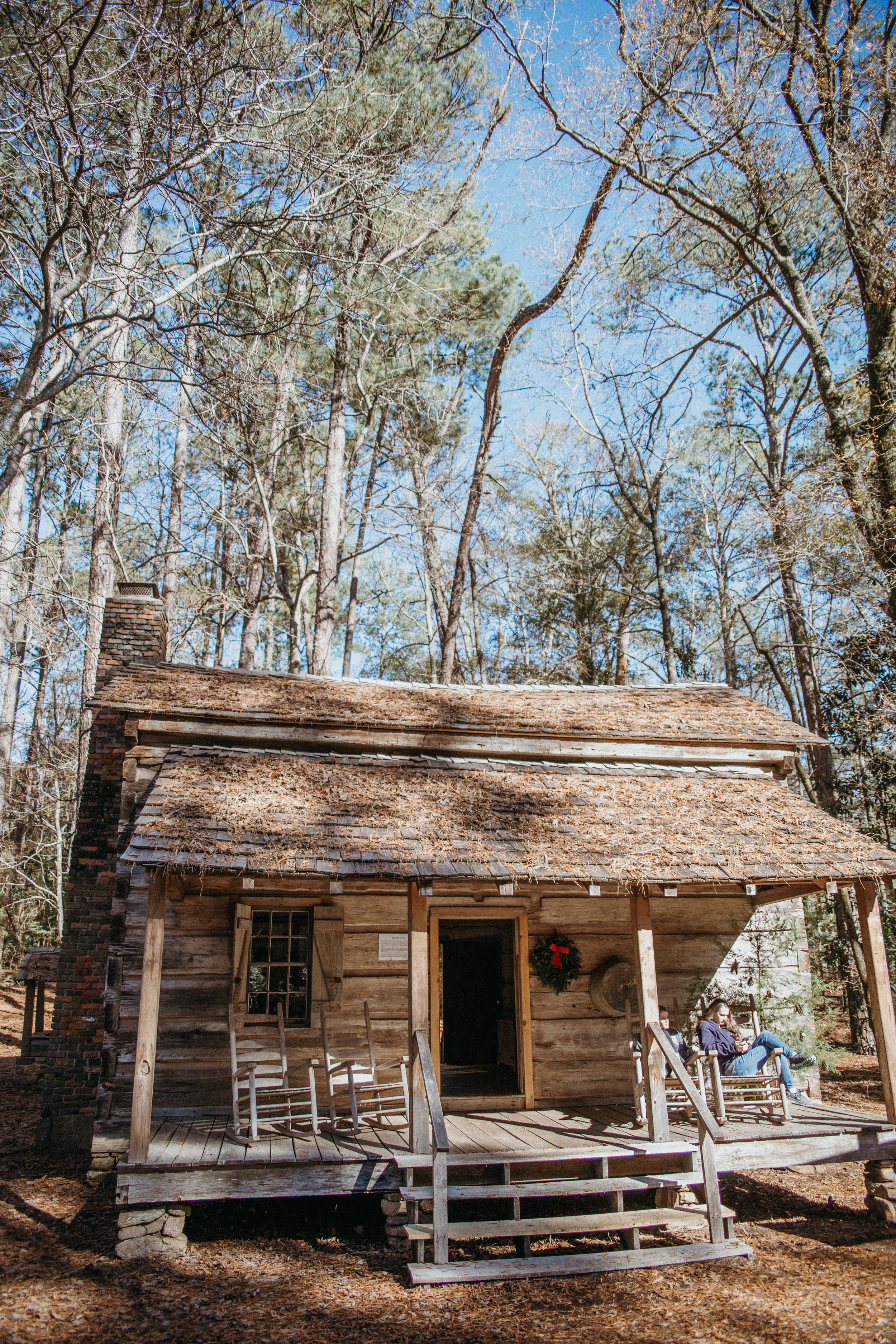 Our first stop at Callaway was the Log Cabin