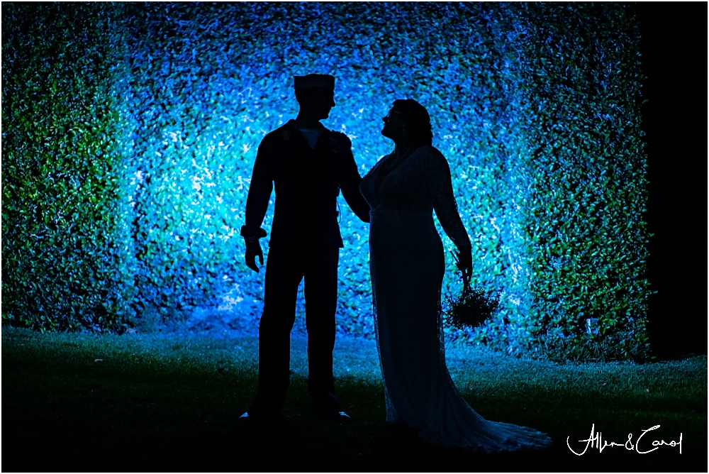 Although it was dark and everyone was tired, Matt & Ashli hung in there for one more epic shot!  Allen loves playing with light and creating something for each client that is unique.  When our clients trust our vision, it makes our jobs so easy and allows us to create something special for them. Well done, Matt & Ashli!