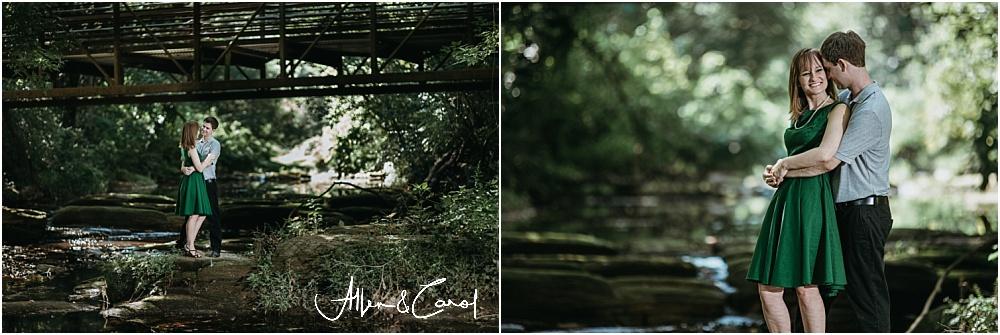 Engagement Photos at a creek in Atlanta