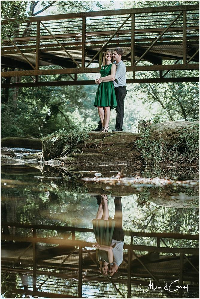 Engagement photos at Tanyard Creek Park Atlanta