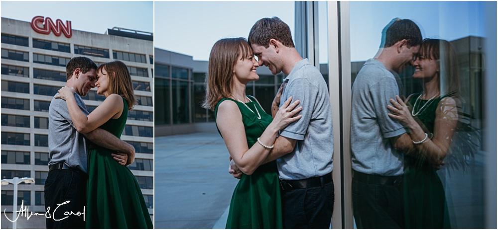 Engagement Photos at CNN building in Atlanta