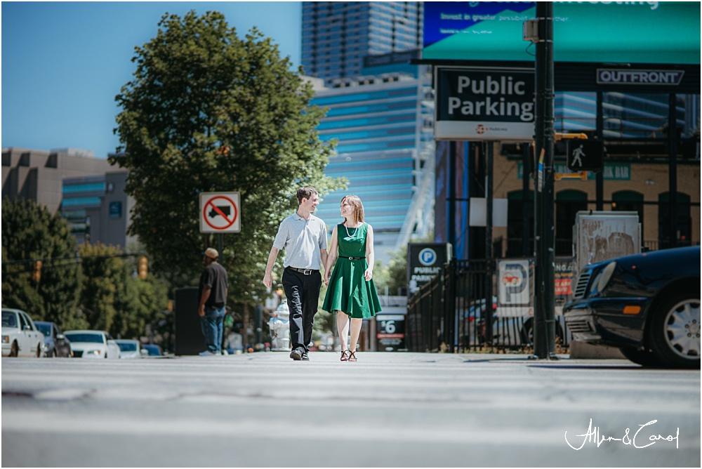 Best engagement photos downtown atlanta
