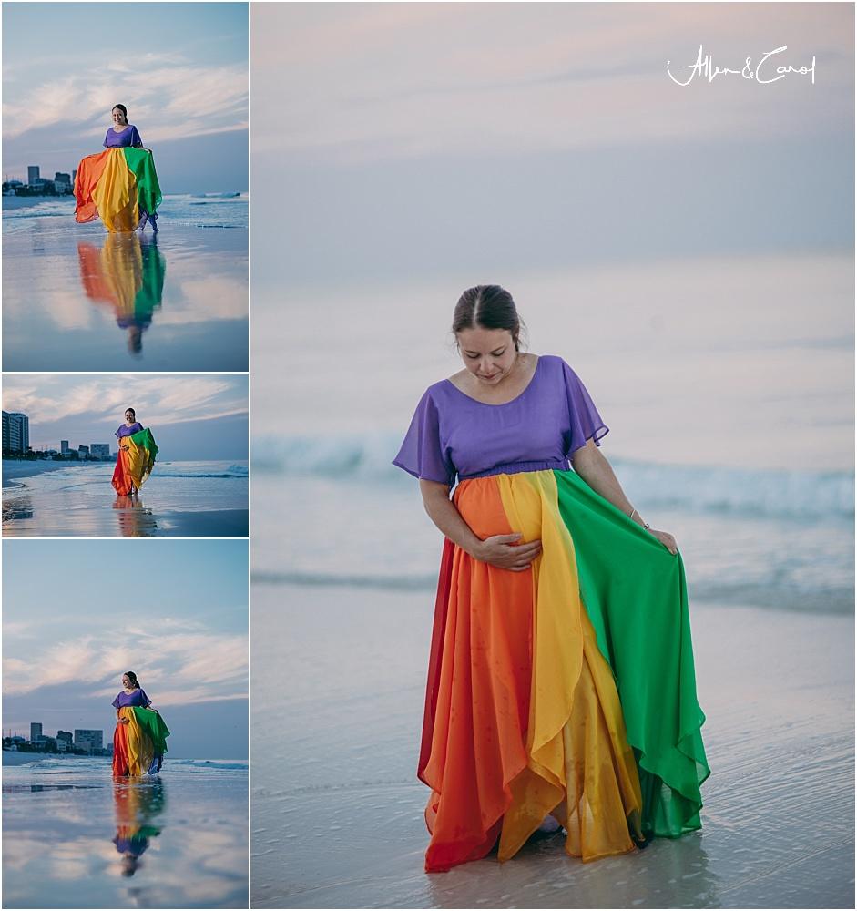 rainbow baby dress