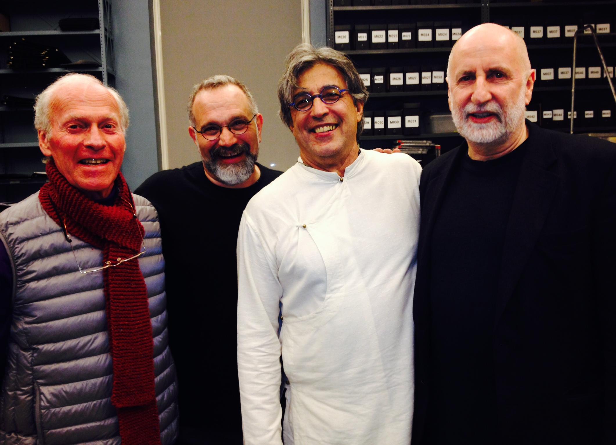 L to R: Paul McCandless, Eliot Wadopian, Ivan Lins, Eugene Friesen