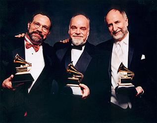 The Grammys 2005!! Eliot Wadopian, Paul Sullivan and Eugene Friesen. Big night!!