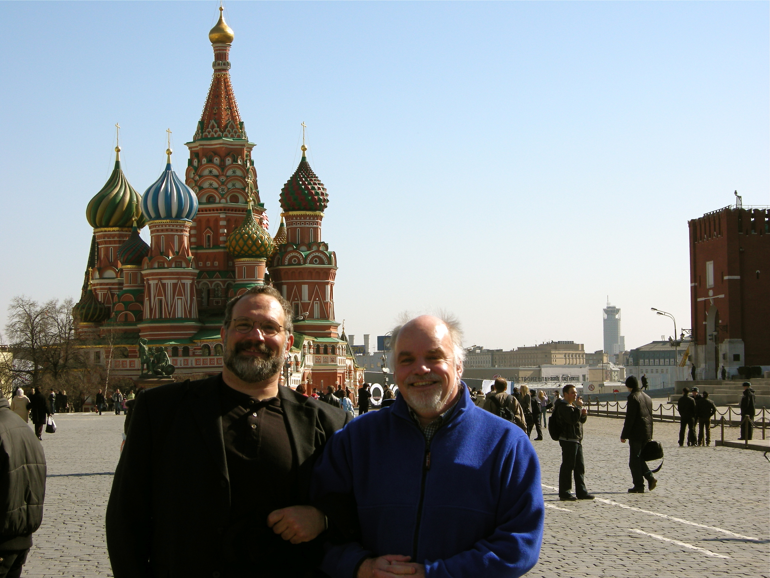 Amazing pianist composer Paul Sullivan and myself Red Square Moscow, Russia. March 2008